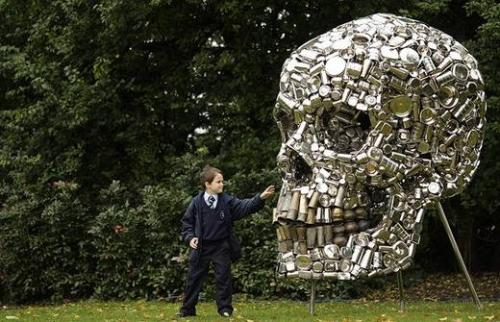 subodh gupta's very hungry god.   -this artist is my new obsession