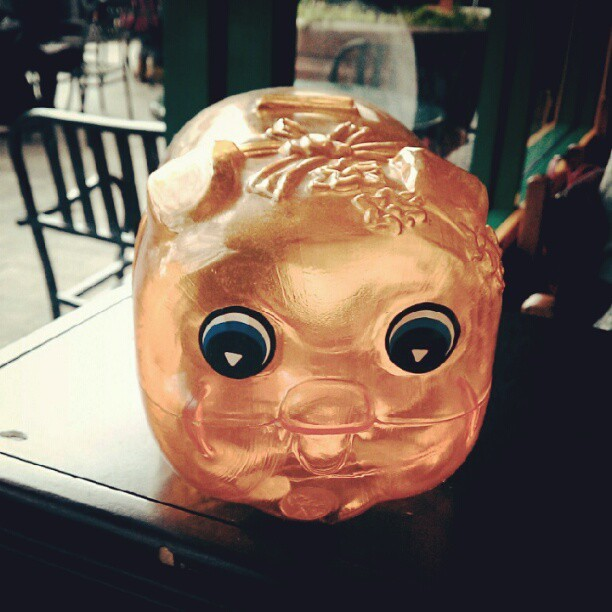 Classic piggy bank just like the one I got when I was young.(Taken with Instagram)