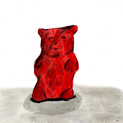 foodonpaper:  gummy bear