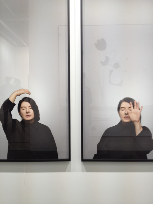 Here we have the Superartistar Marina Abramovic  From the exctasy series: With eyes closed I see happiness, 2012  In Basel exhibited @ Lisson Gallery, London, Milan