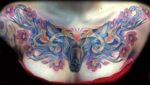Done by David Ekstrom at the Canvas Tattoo Studio in Eagan, Minnesota. This tattoo gets tons of positive attention. It took three sittings, each one about 2-5 hours, and it was completely worth it.