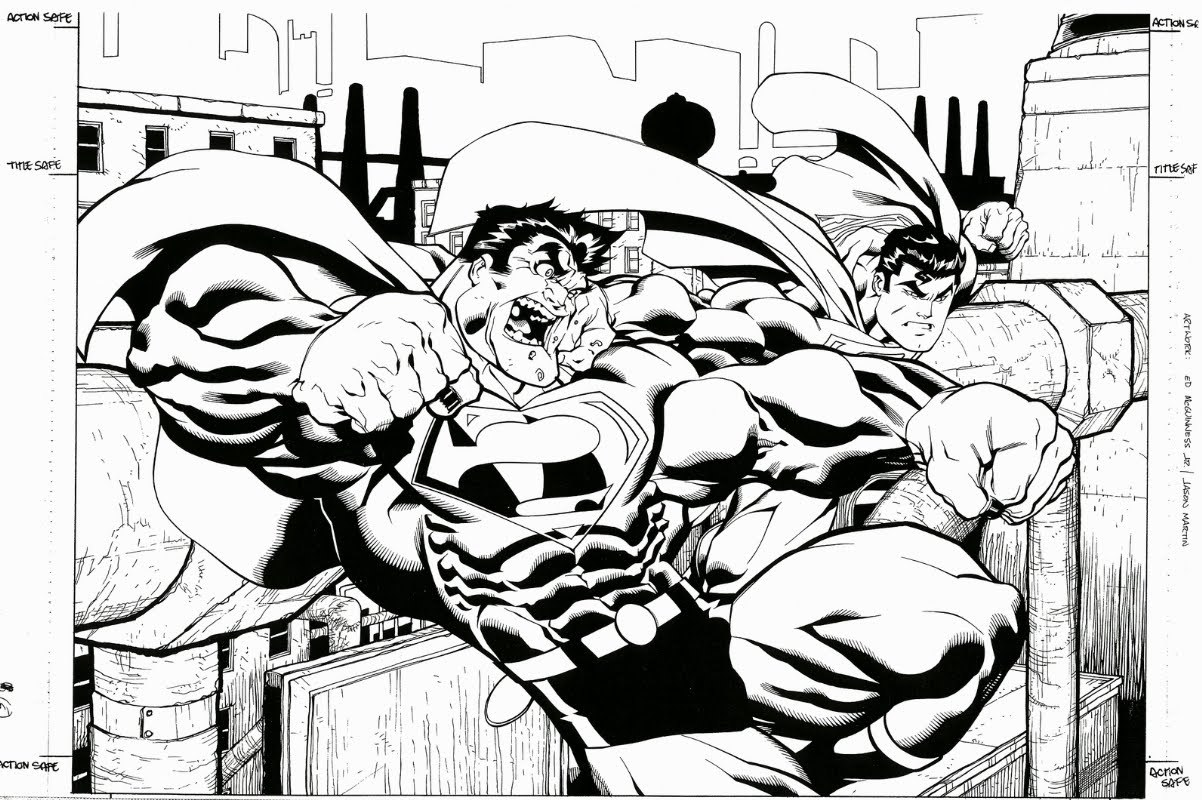 Superman vs Bizarro by Ed McGuinness
