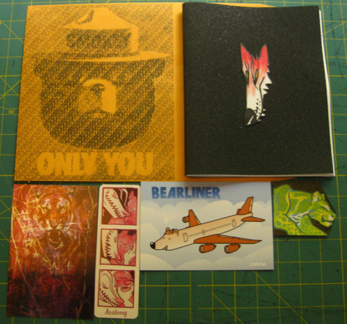 rruffurr:  Kit'n'caboodle: Envelope, book, and goodies from birds, Redacteur, and GodDamnAnimals. Buy a copy here!  R A D <3