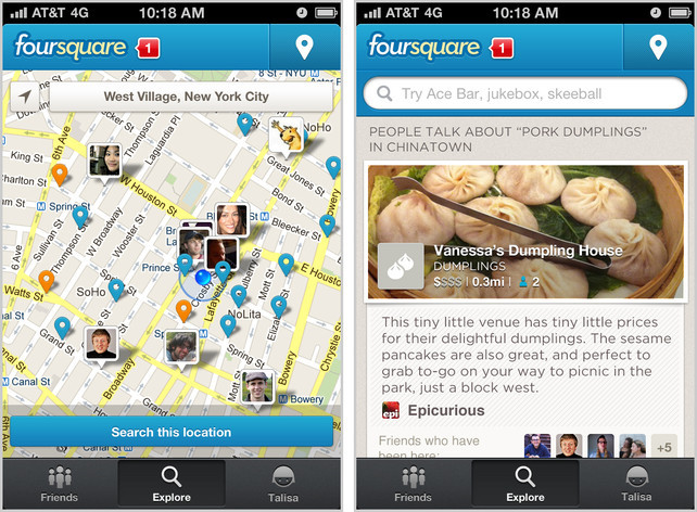 Foursquare get's a redesign with a focus of simplicity and search.  http://ow.ly/bz3g6