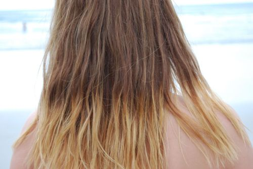 melal:  sevvven:  My new ombre hair. This was at the beach when I was on my trip a week ago. I absolutely love what salt water does to hair!  Love the degradé