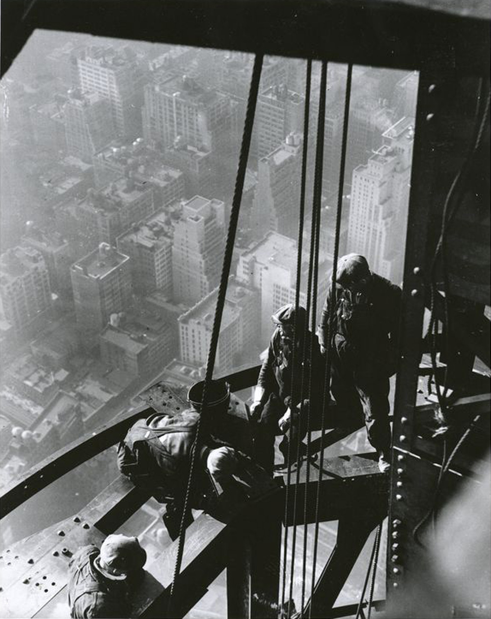 Workers on Empire State Building, 1931. By Lewis W. Hines