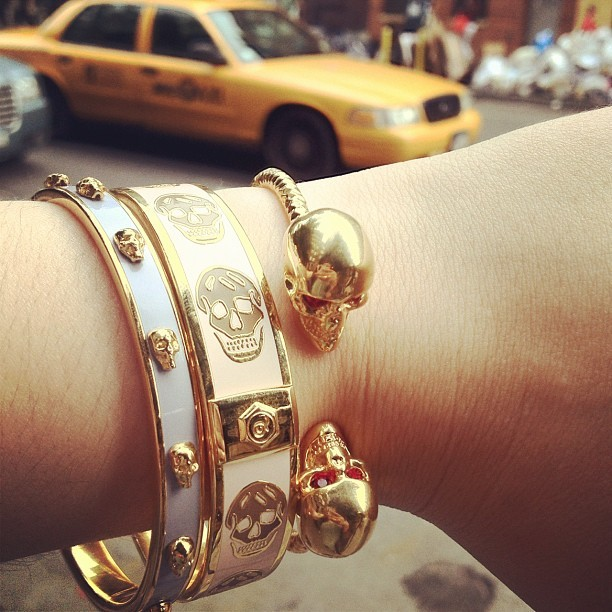 bergdorfprincess:  McQueen arm party  (Taken with Instagram) follow me on instagram @ missyanacherie