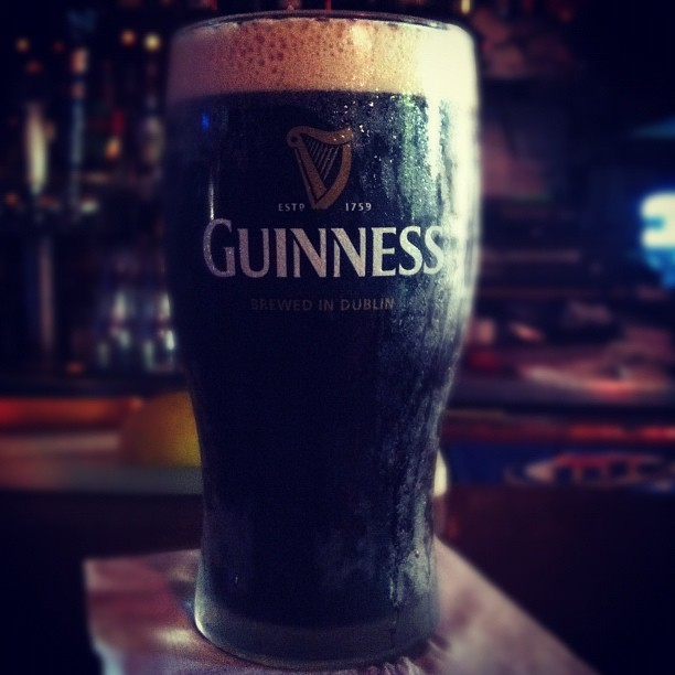 I do it for the strength. Guinness @ happy hour! (Taken with Instagram at The Rail Pub)