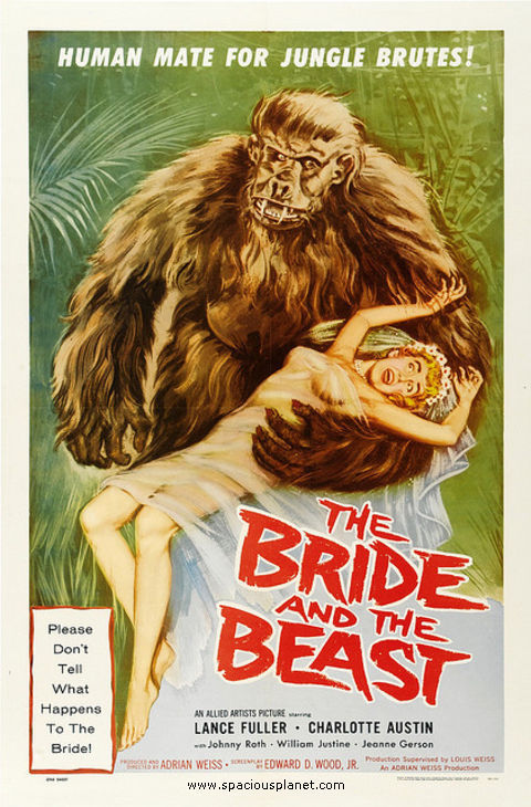 piratetreasure:  The Bride and the Beast (1958) Ed Wood
