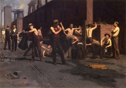 Thomas Pollock Anshutz, The Ironworkers' Noontime, oil on canvas, Fine Arts Museum of San Francisco