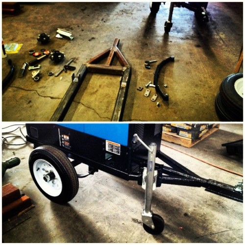 @daboiq and I making another trailer for our welders.  (Taken with Instagram)