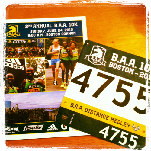 B.A.A. 10K race packet arrived! So excited to partake in this race series next weekend!