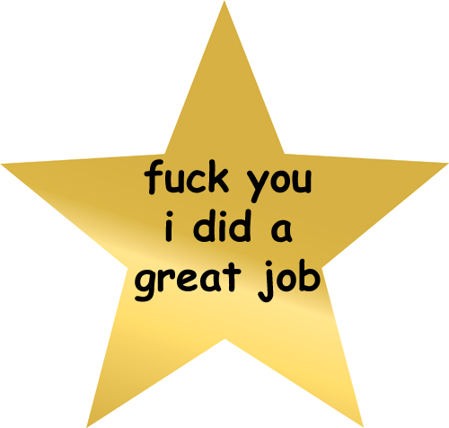 Here's a gold star.