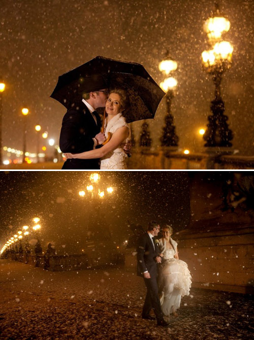 ido-weddings:  (via Top wedding blog, What Junebug Loves, best wedding ideas, dresses, decor) Walking in a winter wonderland