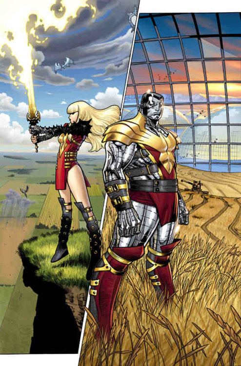 fuckyeahnewmutants:  Phoenix empowered Magik and Colossus  Avengers vs. X-Men 6