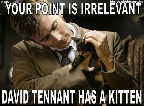 Your point is irrelevant: David Tennant has a kitten.