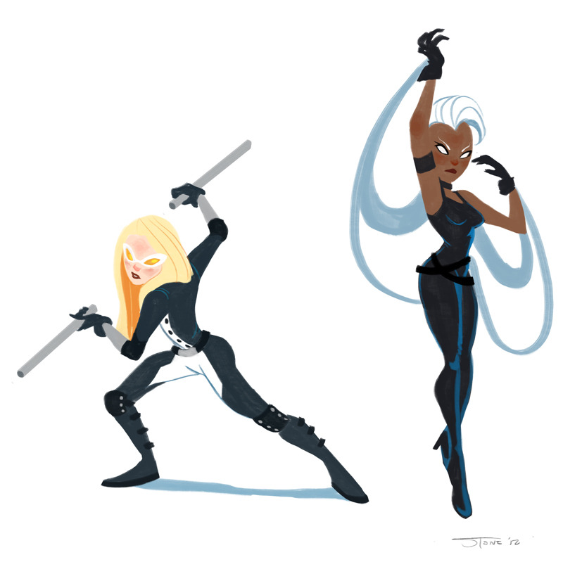 thesanityclause:  More super ladies!Mockingbird is super cool and I wish I knew more about her aside from she marries Hawkeye. Storm I'm still warming up to, I'm sorry but I just made fun of her too much when watching the animated series.