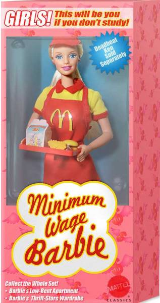 Minimum Wage Barbie Doll