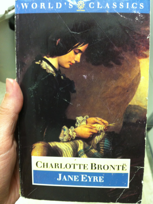 Day 6: A photo of your favorite book.   Jane Eyre by Charlotte Bronte. This is one of the few books I've ever actually reread. It's a love story, it has some scary aspects, I totally could identify with Jane. Love this book.