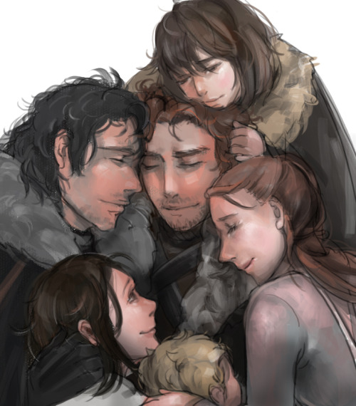 asoiaf-got:  Game of Thrones The Starks by ~MARYMARU