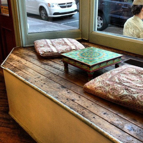 Lovely little window seat to enjoy a cup of tea at Rocket.  (Taken with Instagram)