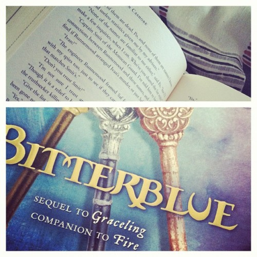 This is how i spend my #summer #afternoons guys. #reading #bitterblue #young #adult #books so #exciting right??! #lmfao #series #novel #book #read #paper #blue #genre (Taken with Instagram)