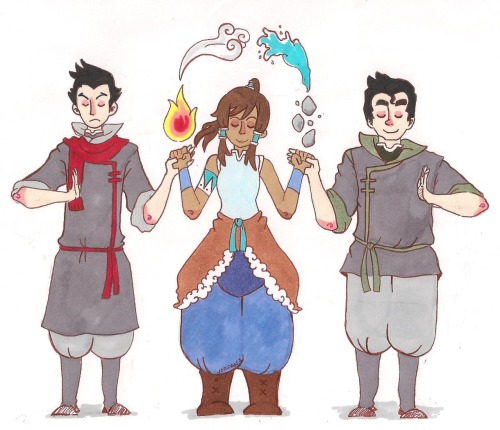 floralrabbit:  Some more LOK doodles