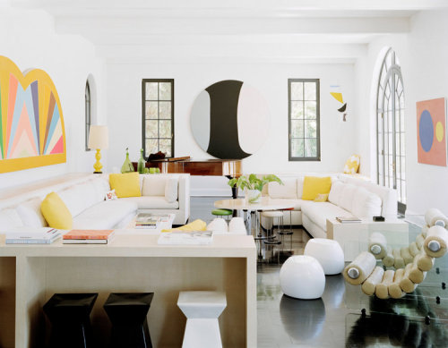 Loving yellow accents.