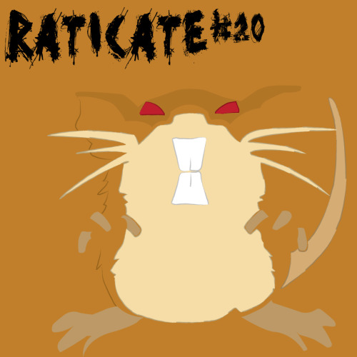 "ou know, I did not hate Raticate as much as Rattata, because he had hyper fang. On the other hand however he is still a giant rat, and being a New Yorker I do not particularly like that brand of rodent. That and Team Rocket thought it prudent to try to take over the world with these. Anywho, this is an illustration of Raticate done in Illustrator using the pen and brush tools. The font ""Ghost Reverie"" was designed by David Kerkhoff and downloaded from dafont.com.  Raticate is property of © Nintendo"