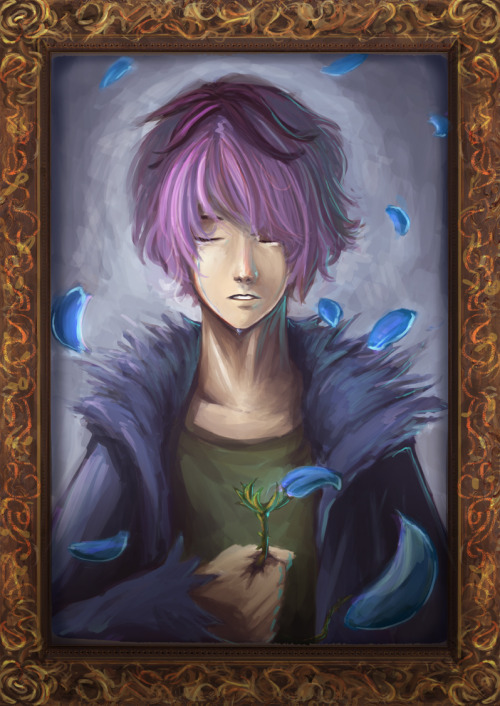 """The blue rose petals have fallen.. """"Will you still remember me?"""