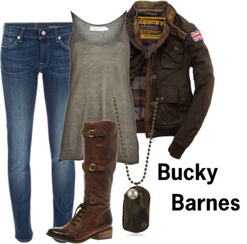 comic-book-fashion:  Bucky Barnes by comicbookfashion MCU! Bucky Barnes.    This is officially the best tumblr in the history of tumblrs.