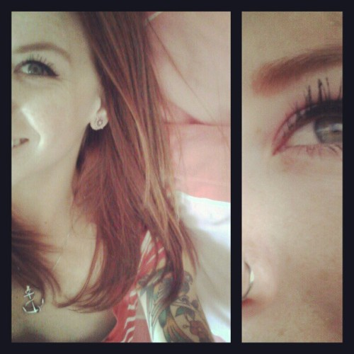 #Goodevening #greeneyes #redhead #piercings  (Taken with Instagram)