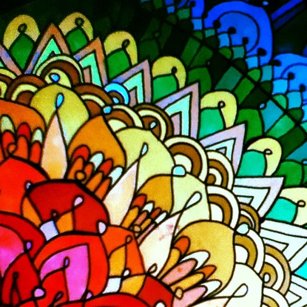 upupupabove:  #colorful #mandala (Taken with Instagram)