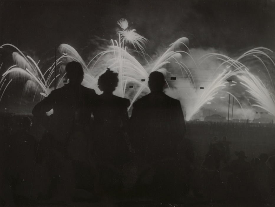 enchanting:  Brassaï, Fireworks at Longchamps, c. 1930s