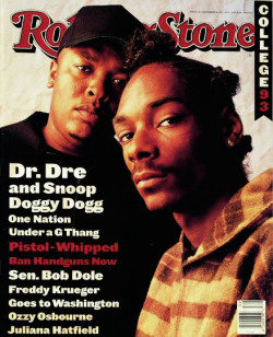 Dr.Dre & Snoop Doggy Dog / Rolling Stone Magazine Cover 1993