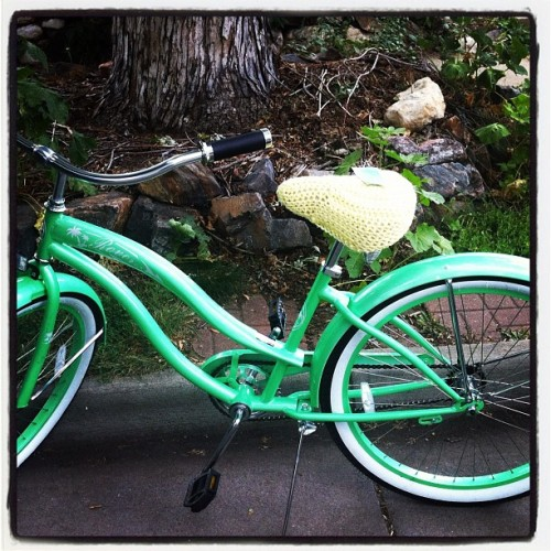 Look at my adorable new seat cover for my cruiser!  (Taken with Instagram)