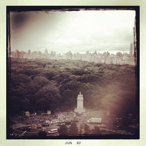 Looking out from CNN cafeteria toward Central Park. (Taken with Instagram)
