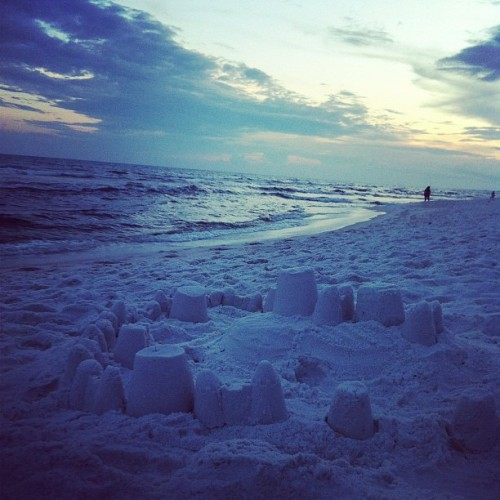 Beach sunset with Leah!!!  (Taken with Instagram at Okaloosa Beach Access #1)