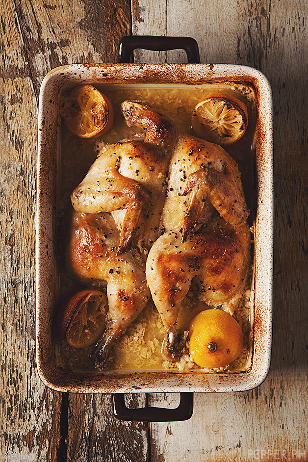 yummyinmytumbly:  Take a Break from Gravy: Roast Chicken with Milk & Lemons