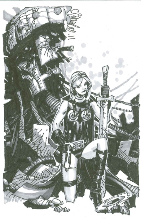 awyeahcomics:  Valkyrie by Chris Bachalo