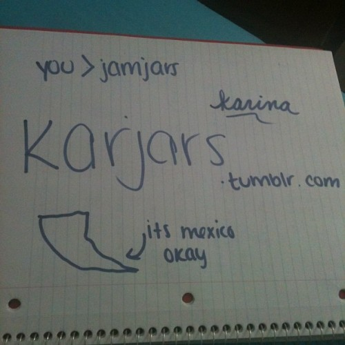 basementjax:  karinaaaaaaaaa (Taken with Instagram)  Omg jamjars lol. <3 You kill Baja California! And the state where I live… wow, I LOVE YOU! <3333