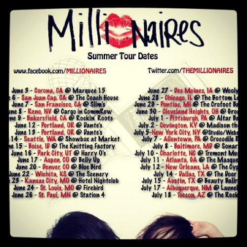 come party with me on tour ❤🍻🚬💋 @themillionaires #melissamarie #melissamarielifestyle #millionaires #tour #tourlife  (Taken with Instagram)