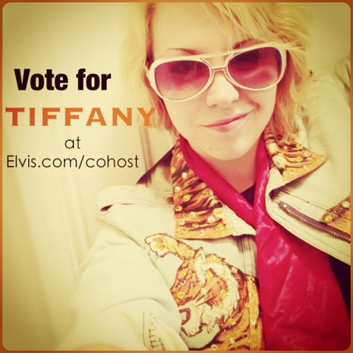 Go vote for me to cohost Elvis Week! No registration required and it's a one time only vote. Thank you. Thank you very much.