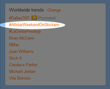 WOO!!! #AllstarWeekendOnStickam was trending on Twitter Worldwide! The show started a while ago! Come join the fun! http://www.stickam.com/allstarweekend Special guests Hollywood Ending will join in! Don't miss out!