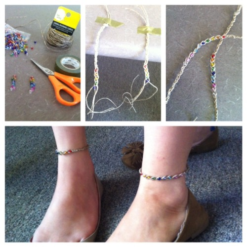 friendship wish anklets :) your wish comes true when your anklet falls off