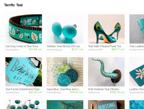 Etsy Treasury - Terrific Teal Just updated with fresh, new items! You can see my other treasuries here