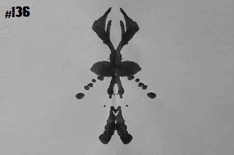 "inkblotoftheday:  Inkblot #136 Instructions: Tell me what you see. -Enjoy  After they were sued for discriminating against female membership, the Secret Society of the Stag modified their charter to encompass ""membership is universally available to all"" … well, let's just say the membership has grown in strange ways."