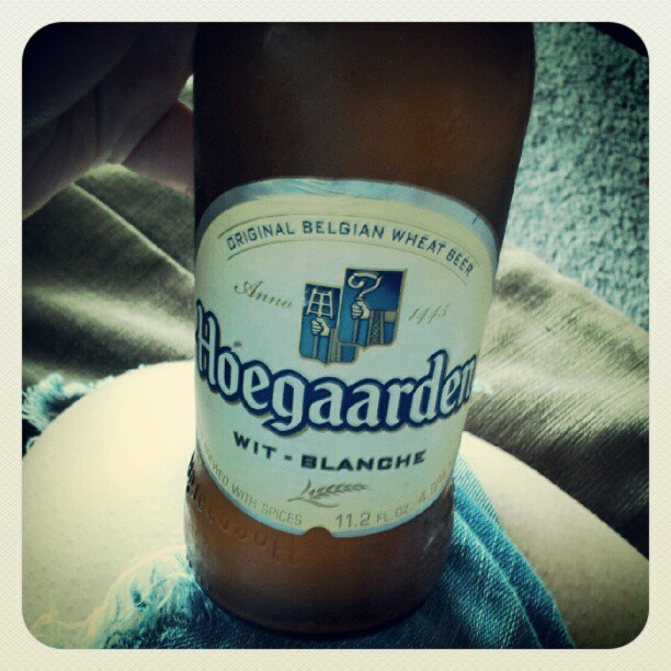 Hanging with @jessfilm24 yay! #beer #friends #wit #hoegaarden (Taken with Instagram)