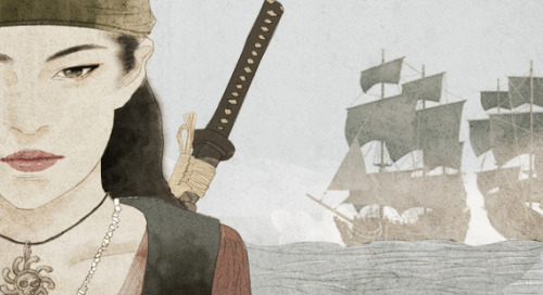 "bankuei:  theworldofchinese:  The Greatest Pirate Who Ever Lived BY: JOE DORAN (杜乔) In 1801, a pirate named Zheng Yi was busy raiding Canton. Aside from the prerequisite plundering and rum-drinking, he had given his men one specific order: to break into a local brothel and bring him the prostitute Zheng Yi Sao (郑一嫂), or ""Zheng Yi's wife"". One might expect a sinister fate to have awaited Zheng Yi Sao upon her deliverance to the pirate captain (rape, swiftly followed by murder, being the most obvious). In actuality, Zheng Yi's intentions were considerably more gentlemanly. He intended to marry her. And recognizing that her current future prospects were rather limited, Zheng Yi Sao accepted. But Zheng Yi Sao didn't intend on spending the rest of her days as some plunder-hungry pirate's eye candy. She wanted to become a pirate as well, and she did – one of the greatest pirates to have ever lived. Read more  That first part doesn't do justice, here read this:  Right from the get-go, Zheng Yi Sao displayed a staggering degree of cunning. She happily accepted Zheng Yi's proposal, but only on the condition that he share his wealth and power with her, equally. Then, while her new husband went about his pirate duties – further plunder and rum-drinking, presumably – she focused on the business side of things. The result was that in six years, she had engineered an alliance between Zheng Yi and his former pirate rivals, amassed a force of some 1500 ships (called the Red Flag Fleet) and created a swashbuckling empire that extended all the way from Korea to Malaysia. Zheng Yi certainly knew how to pick 'em. Unfortunately, Zheng Yi was killed in 1807 after a misunderstanding with a typhoon. Unfortunate for him, but extremely fortunate for Zheng Yi Sao. Refusing to step aside like a good, diligent widow, Zheng Yi Sao took charge of the Red Flag Fleet, convinced her late husband's First Mate to support her and swiftly set about making herself the most respected and/or feared individual in all the East. If films/books/video games have taught us anything, it's that pirates were a rowdy bunch at the best of times, and their attitudes towards women were…less than progressive. Zheng Yi Sao, of course, was having none of that and quickly established a new pirate code to keep her peg-legged men in line. Anyone who looted a town that had already paid tribute had their head cut off and was dumped in the ocean. Anyone caught, or even suspected, of stealing from the treasury had their head cut off and was dumped in the ocean. Anyone who raped a female prisoner had their head cut off and was dumped in the ocean (there's a pattern there somewhere). Needless to say, Zheng Yi Sao was not messing around. Not all her laws were quite so decapitation-happy, though. Ugly female prisoners were to be set free, and when a crewmember purchased one of the prettier captives, he had no choice but to marry her. But if he was unfaithful…head cut off, dumped in the ocean. After just one year leading her pirate hegemony, Zheng Yi Sao had formed one of the largest navies on the planet, with some 17,000 men under her command. Extorted tributes from merchants across the Chinese seas and from the coastal towns between Macau and Canton swelled her treasury to staggering levels, and her power was so great that she became the de facto government of the region. No longer was she merely a pirate; she was an entire political entity.   Wow. And in Pirates of the Carribean, what do we have? Oh yes, Keira Knightely's white womanhood is threatened with rape by the evil!Oriental pirate, who's subsequently killed off so that the white woman who could put on some ridiculous Orientalist garb and take over the fleet. Yea, not gross at all *sarcasm*"