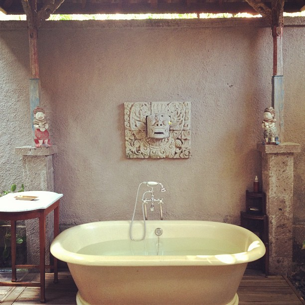 Bath outside, anyone? #bali #villa #bath (Taken with Instagram)